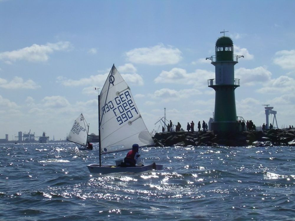 Opti-Trainingslager in Warnemünde (Ostern)